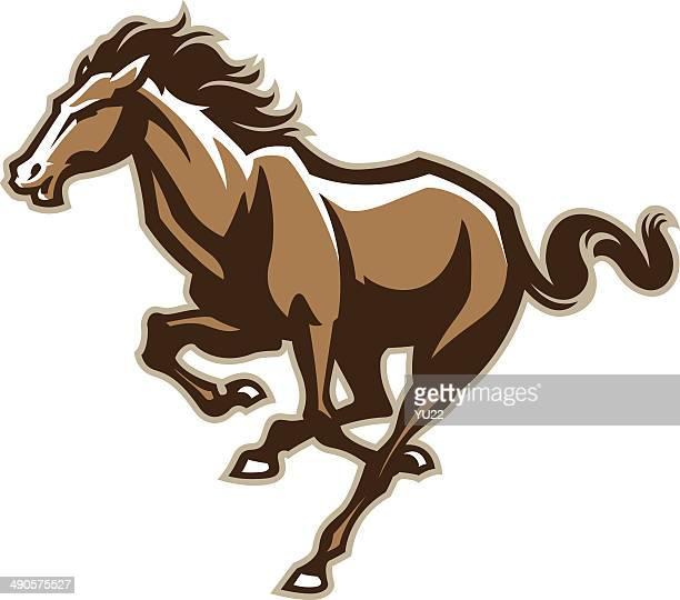 ilustrações, clipart, desenhos animados e ícones de cavalo de corrida - animal mane