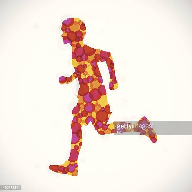 ilustraciones, imágenes clip art, dibujos animados e iconos de stock de niños corriendo - obesidad infantil