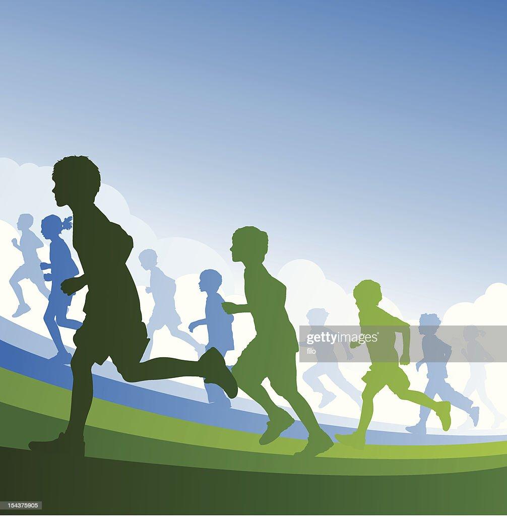 Running Kids Background
