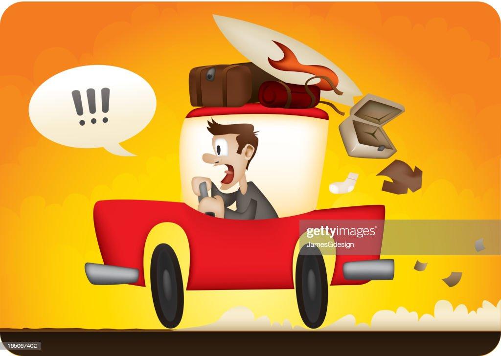 Running Late! : stock illustration