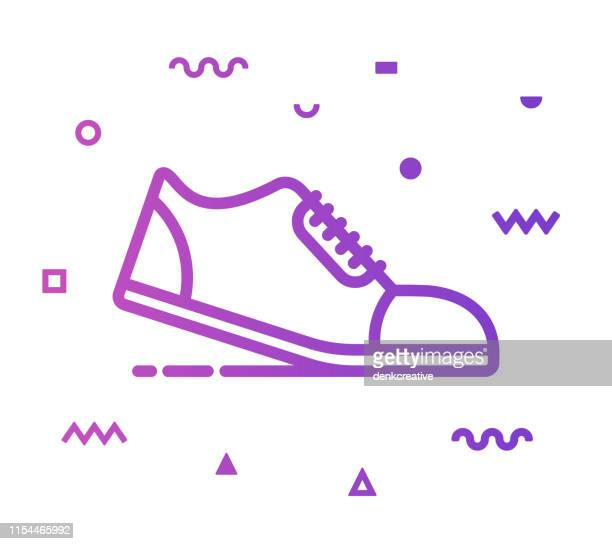 running line style icon design - racewalking stock illustrations, clip art, cartoons, & icons