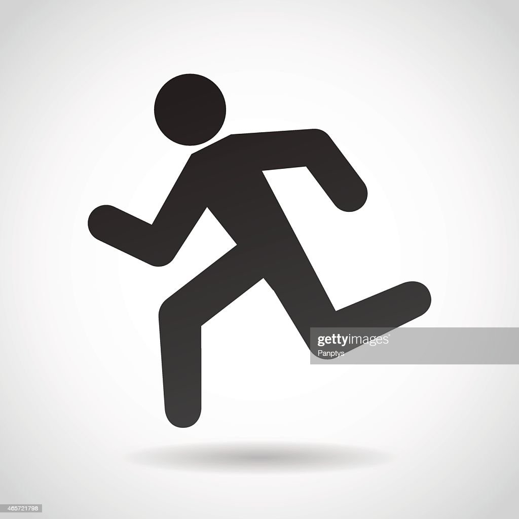 Running man icon.