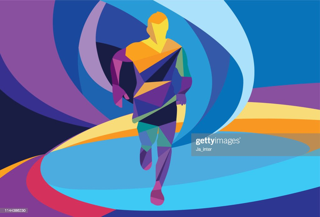 Running Man : Ilustración de stock