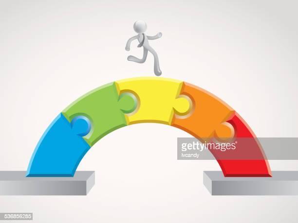 Running on puzzles bridge