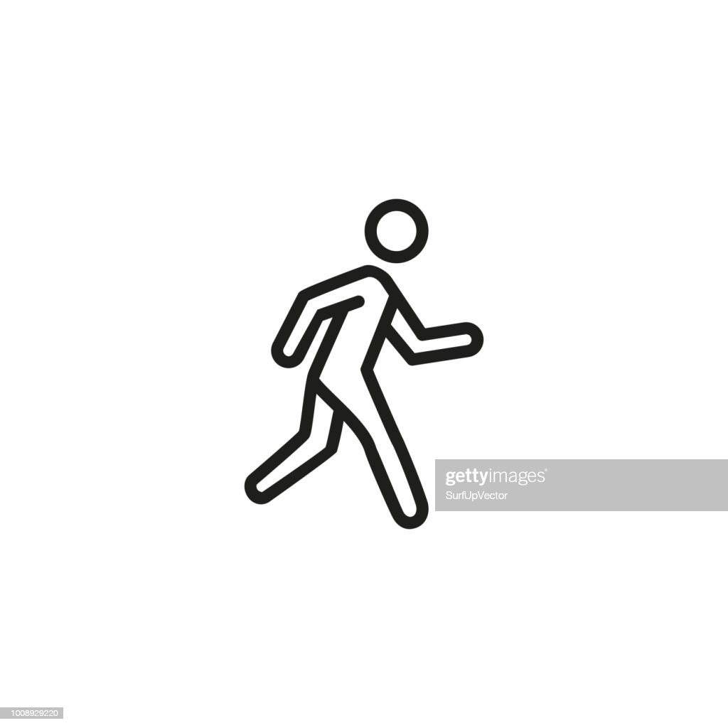 Running person line icon