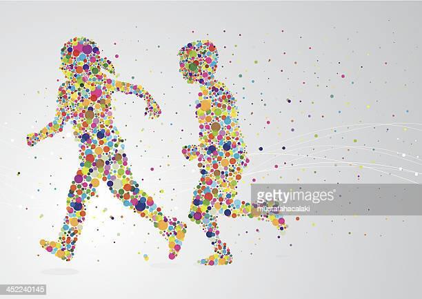 Running pixel children