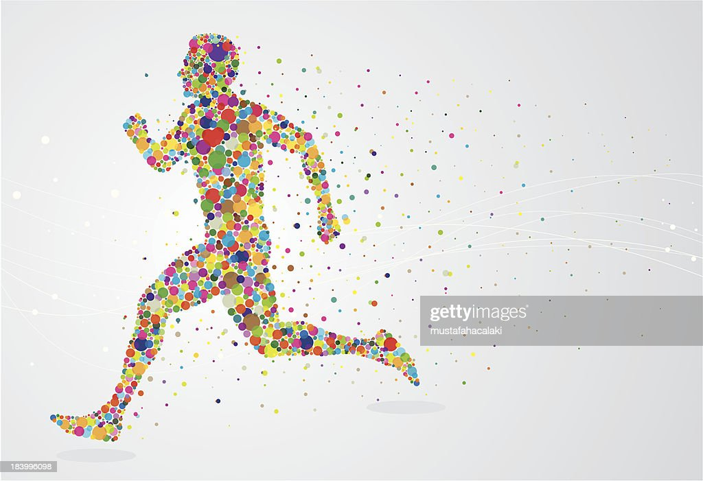 Running pixel man