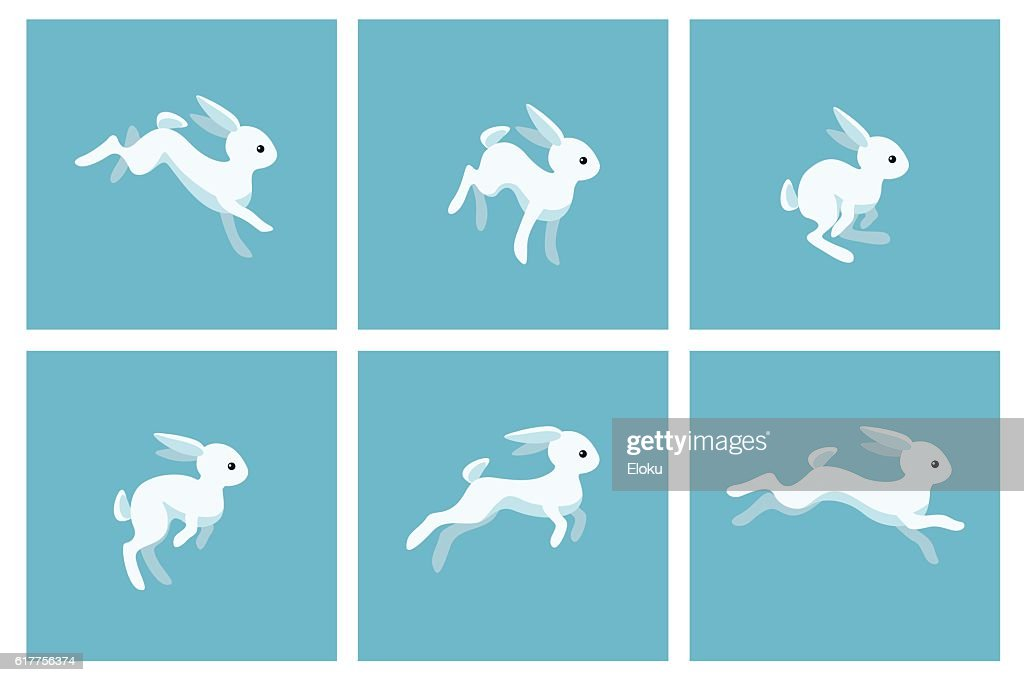 Running rabbit animation sprite