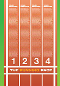 Running race track layout