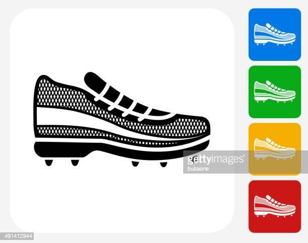 stockillustraties, clipart, cartoons en iconen met running shoes icon flat graphic design - military