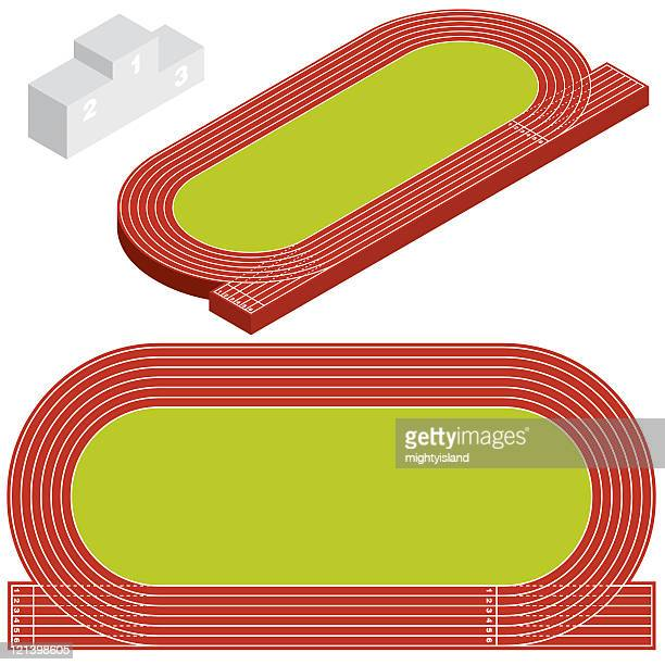 running track - track and field stock illustrations, clip art, cartoons, & icons