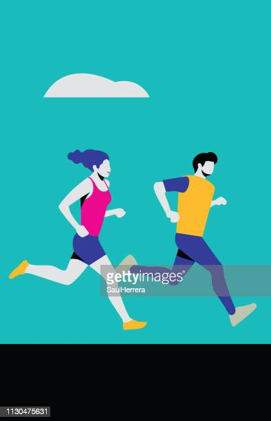running - aire libre stock illustrations, clip art, cartoons, & icons