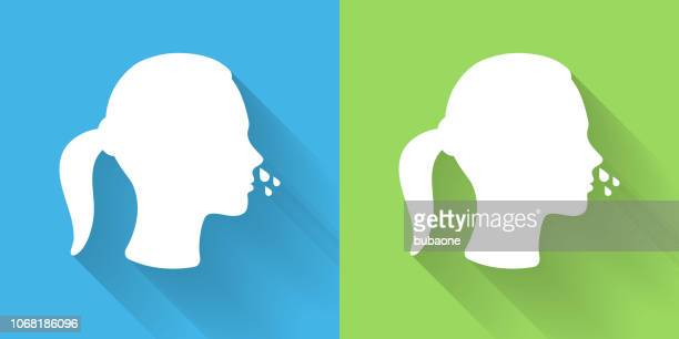Runny Nose Icon with Long Shadow