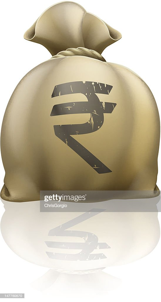 Rupee money sack