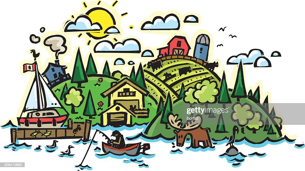 Rural country side : Stock Illustration