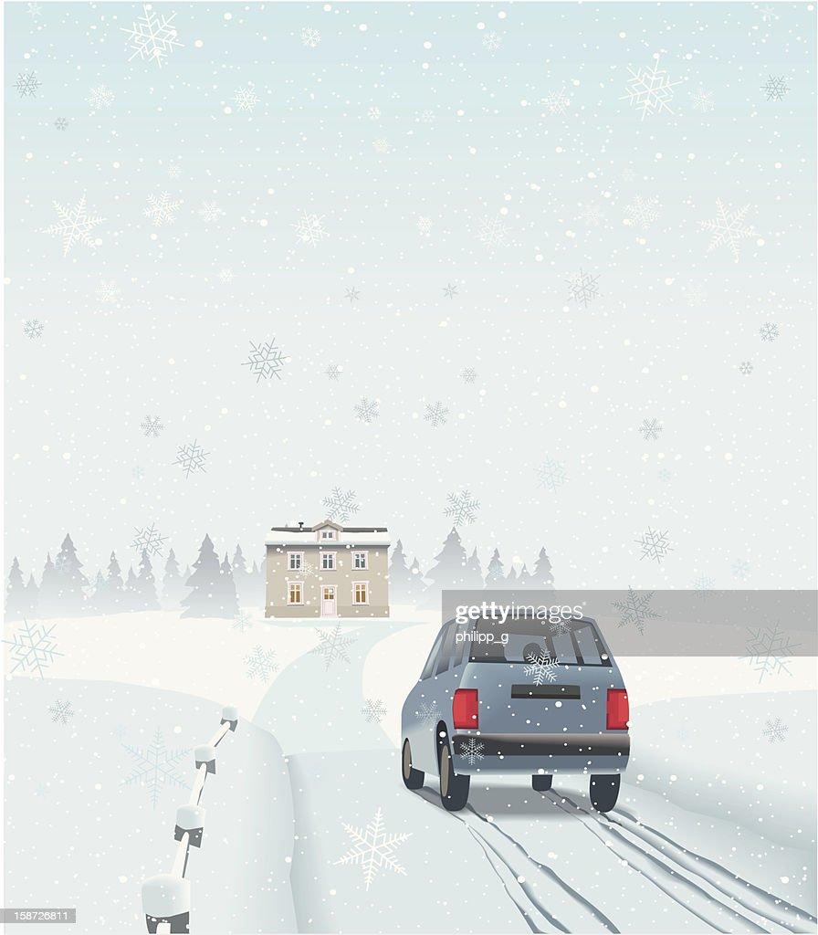 Rural de días festivos : Arte vectorial