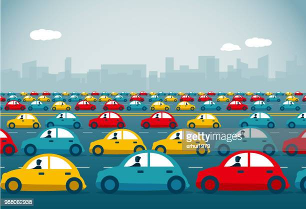 rush hou - traffic stock illustrations