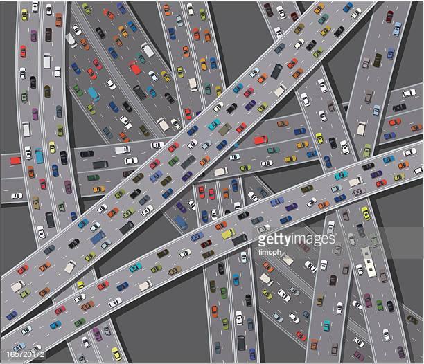 rush hour - commuter stock illustrations, clip art, cartoons, & icons