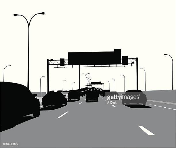 Rush Hour Vector Silhouette