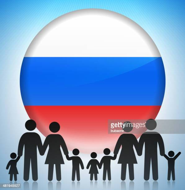 Russia Family Concept Stick Figures
