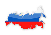 Russia Flag Country Contour Vector Icon