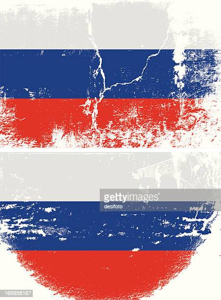russland grunge flagge - russische flagge stock-grafiken, -clipart, -cartoons und -symbole