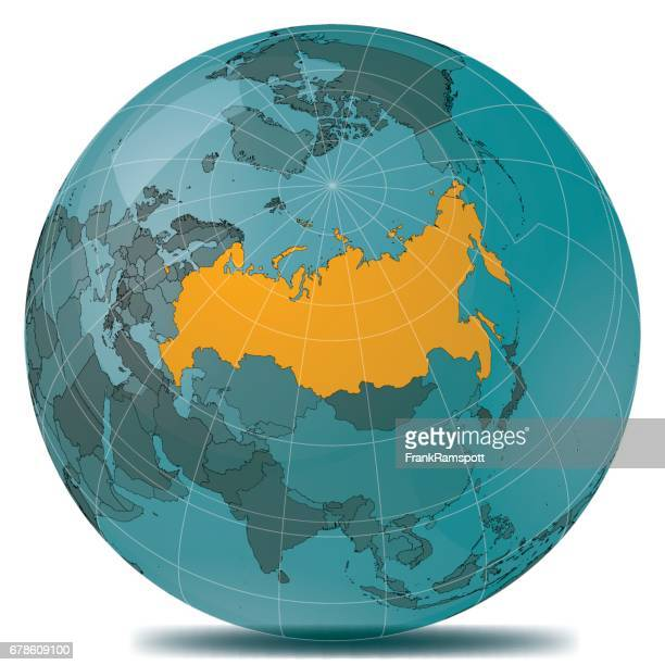 russia highlight planet earth - russia stock illustrations