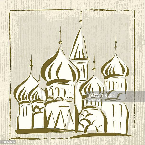 russia landmark - red square stock illustrations, clip art, cartoons, & icons