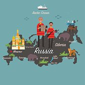 Russia map and travel
