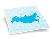 Russia Map isolated on white Background