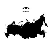 Russia map. Vector illustration.