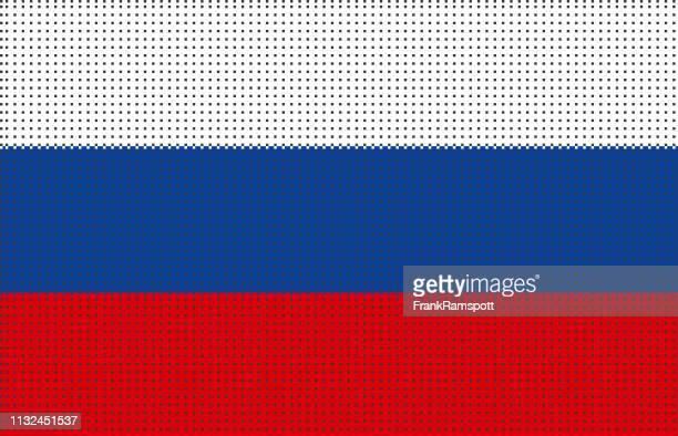 Russland pixelte Vektorflagge