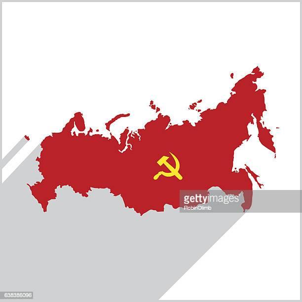 ilustrações, clipart, desenhos animados e ícones de ícone do mapa vermelho da rússia - antiga união soviética