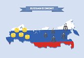 Russia resource economics illustration