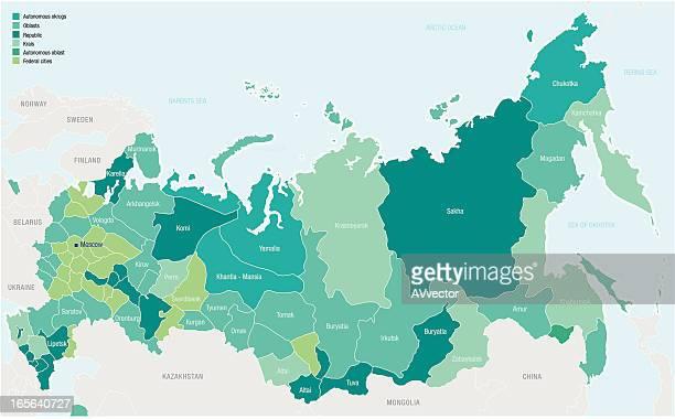 ロシア - 中央アジア点のイラスト素材/クリップアート素材/マンガ素材/アイコン素材