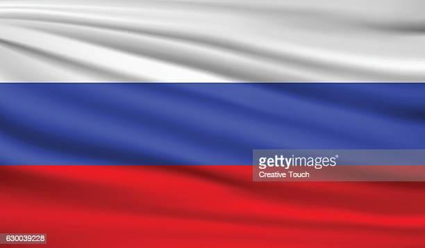 russland  - russische flagge stock-grafiken, -clipart, -cartoons und -symbole