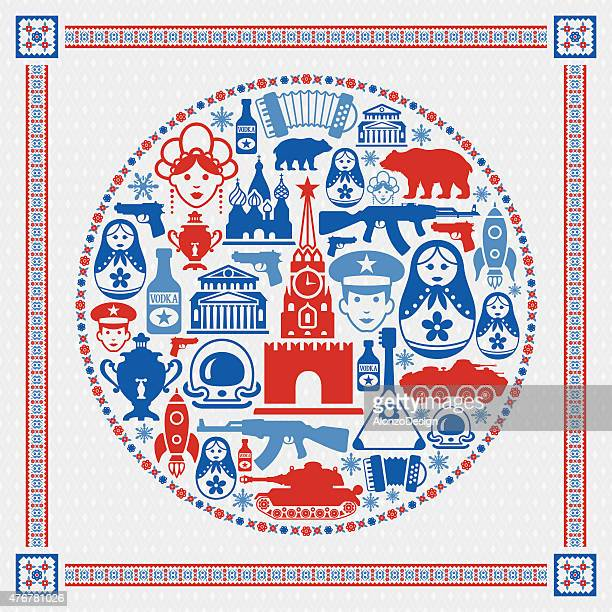 russian collage - red square stock illustrations, clip art, cartoons, & icons
