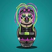Russian doll a cyber goth
