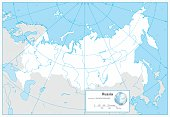 Russian Federation blank outline map