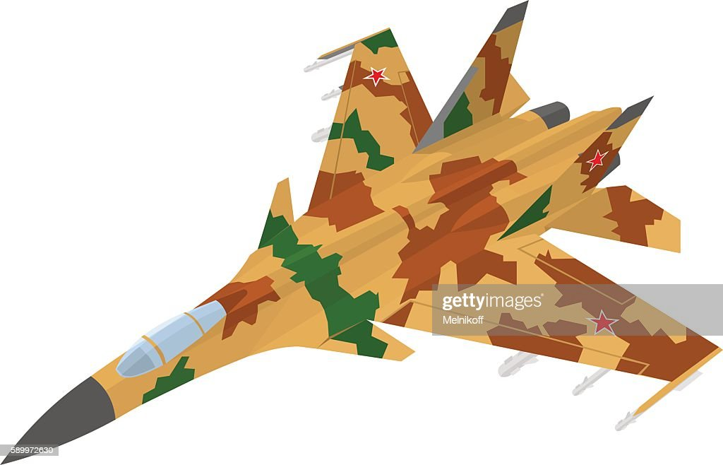 Russian fighter aircraft with desert camouflage