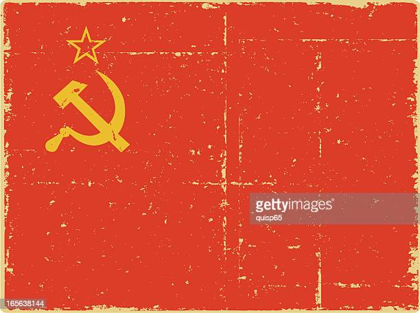 wwii russian flag - communism stock illustrations