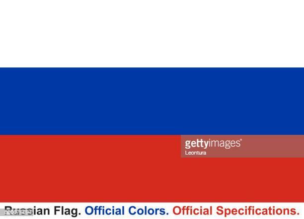 ilustrações, clipart, desenhos animados e ícones de bandeira da rússia (cores oficiais, especificações oficiais) - cultura russa