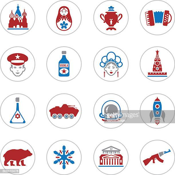 russian icons - russian culture stock illustrations