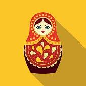 Russian matryoshka icon