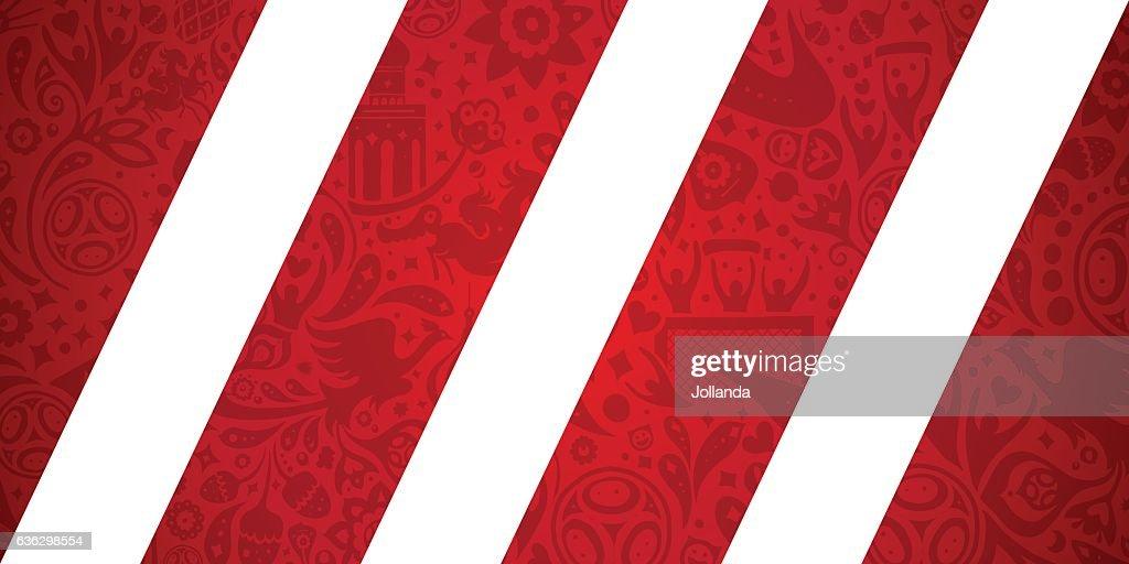 Russian soccer / football inspired vector illustration.