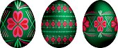 Russian style Easter eggs in vector format.