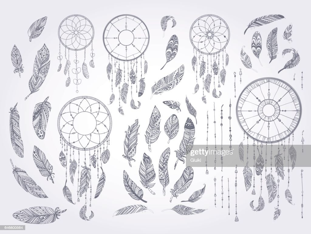 Rustic Ethnic decorative feathers.