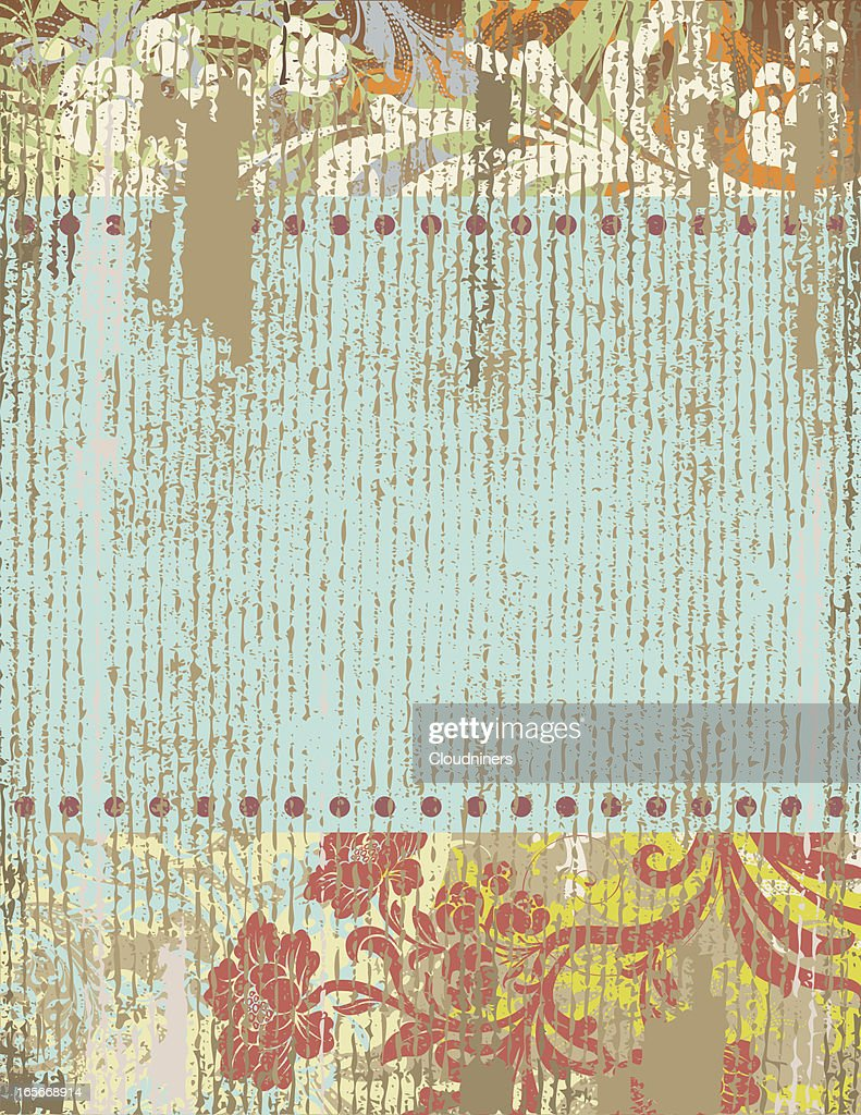 Rustic Floral Banner Vector Art