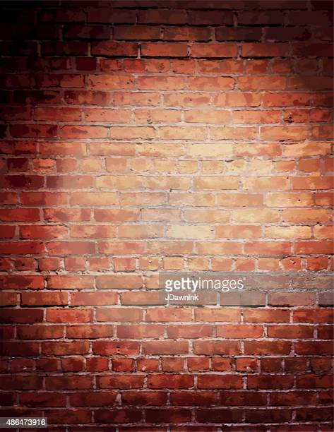 rustic old fashioned brick wall with elegant string lights background - brick stock illustrations