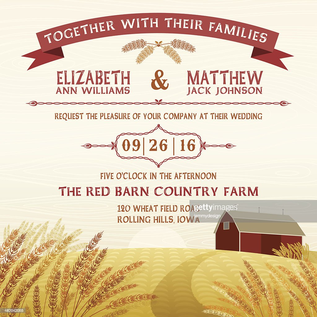 Rustic Red Barn Invitation